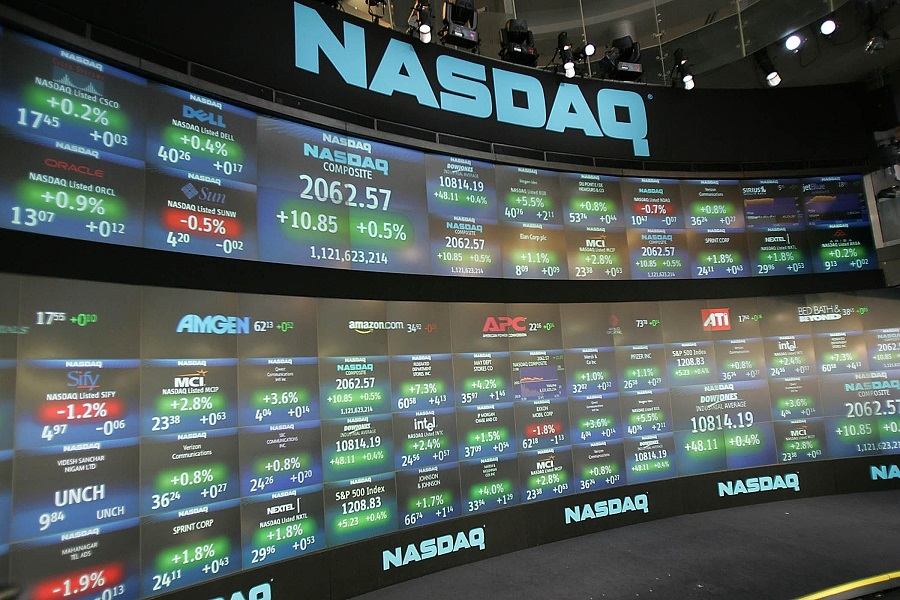 Nasdaq hits record high, as Facebook, AMC stocks surge