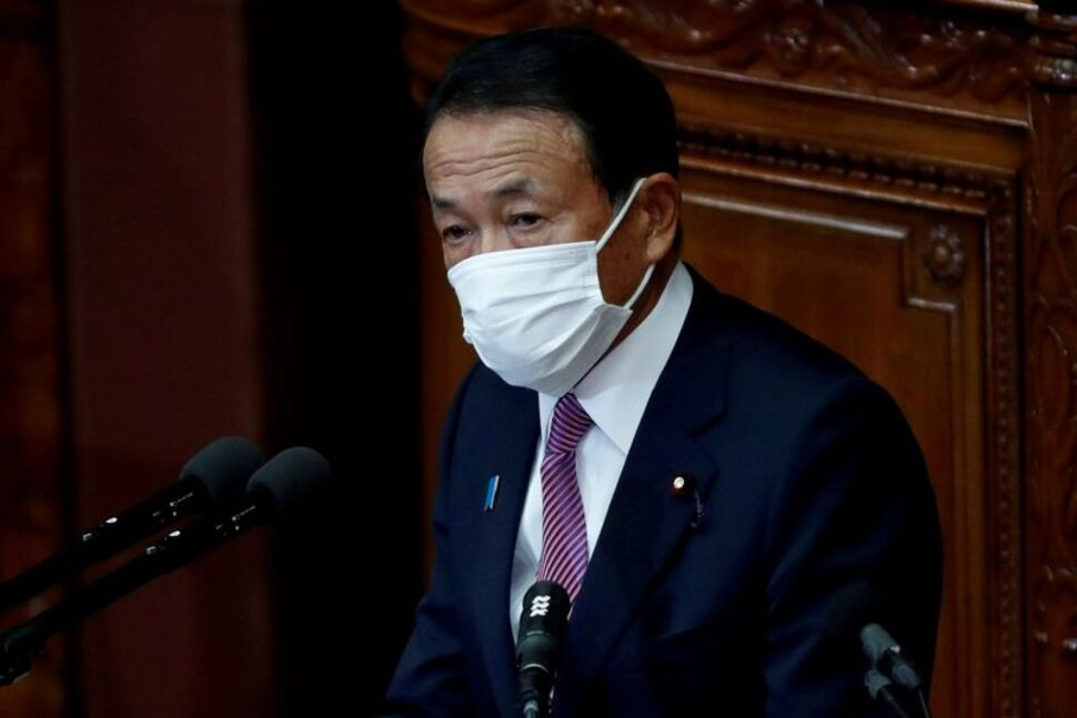 Japan's Outgoing Finance Minister Aso Said He Urged BOJ to Lower Inflation Target